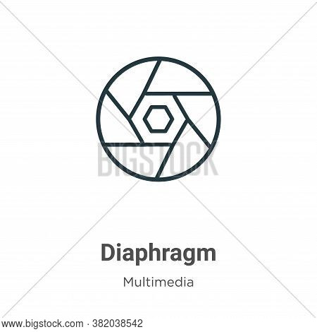 Diaphragm icon isolated on white background from multimedia collection. Diaphragm icon trendy and mo