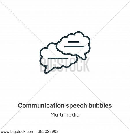 Communication speech bubbles icon isolated on white background from multimedia collection. Communica