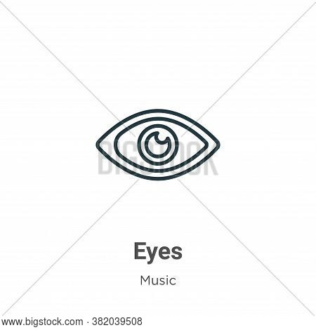 Red eyes icon isolated on white background from music collection. Red eyes icon trendy and modern Re