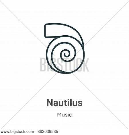 Nautilus Icon From Music Collection Isolated On White Background.