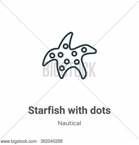 Starfish with dots icon isolated on white background from nautical collection. Starfish with dots ic