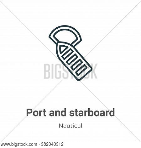 Port and starboard icon isolated on white background from nautical collection. Port and starboard ic