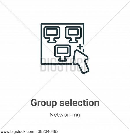 Group selection icon isolated on white background from networking collection. Group selection icon t