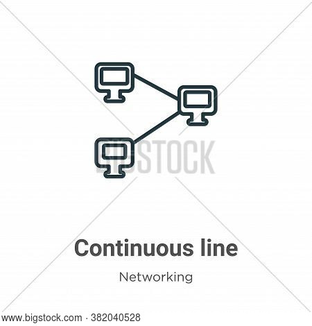 Continuous line icon isolated on white background from networking collection. Continuous line icon t