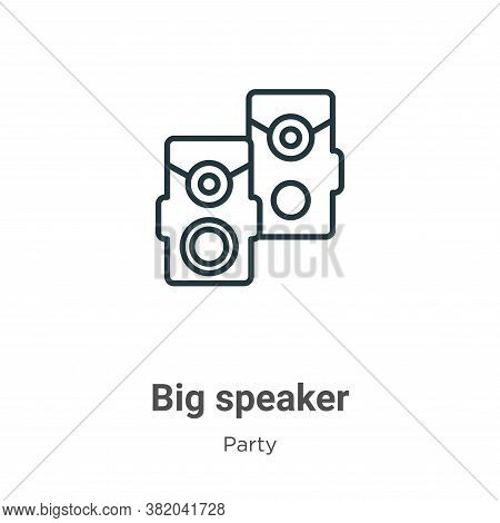 Big speaker icon isolated on white background from party collection. Big speaker icon trendy and mod