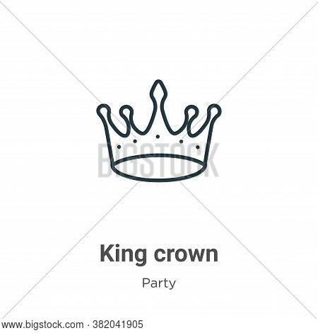King crown icon isolated on white background from party collection. King crown icon trendy and moder
