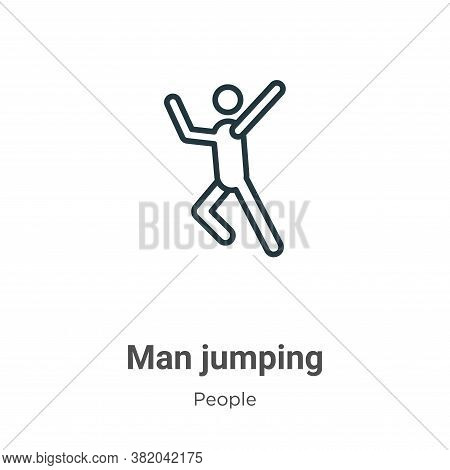 Man jumping icon isolated on white background from people collection. Man jumping icon trendy and mo