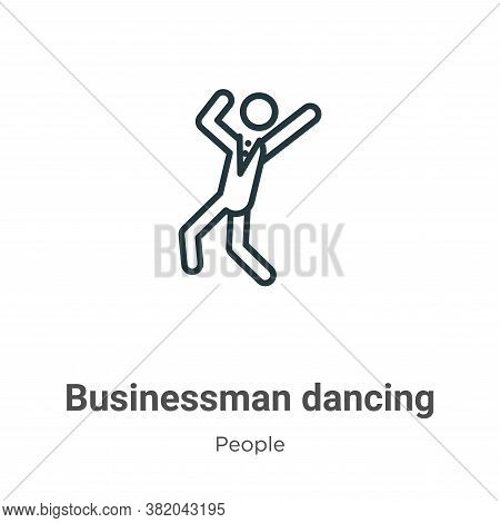 Businessman dancing icon isolated on white background from people collection. Businessman dancing ic