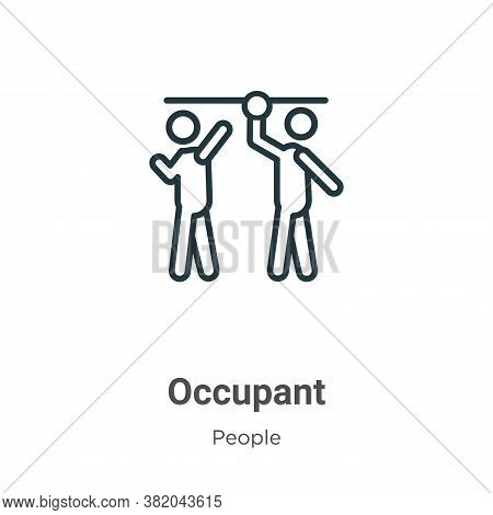 Occupant icon isolated on white background from people collection. Occupant icon trendy and modern O