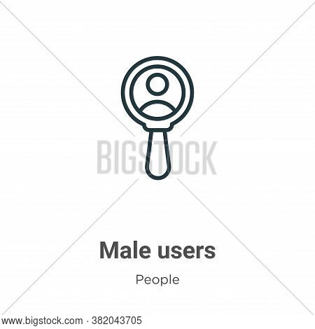 Male users icon isolated on white background from people collection. Male users icon trendy and mode