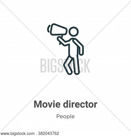 Movie director icon isolated on white background from people collection. Movie director icon trendy