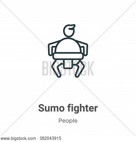 Sumo fighter icon isolated on white background from people collection. Sumo fighter icon trendy and