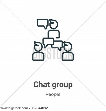 Chat group icon isolated on white background from people collection. Chat group icon trendy and mode