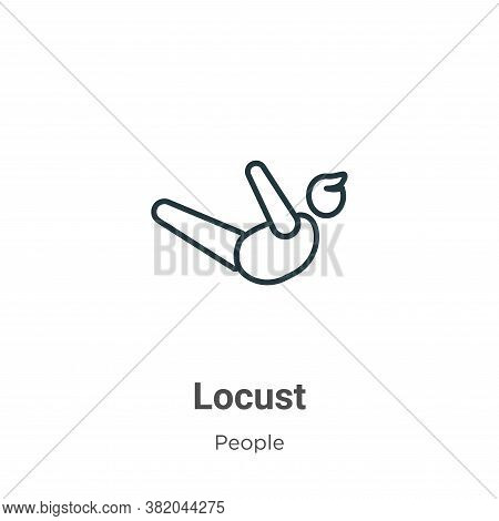 Locust icon isolated on white background from people collection. Locust icon trendy and modern Locus