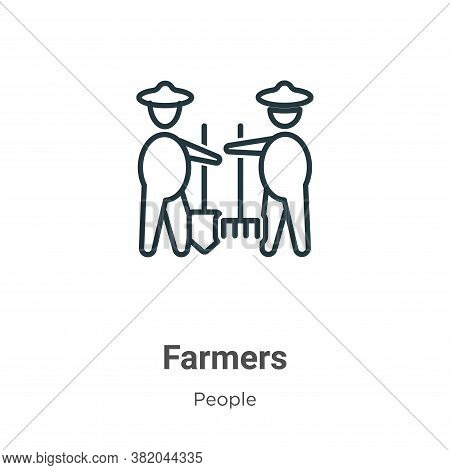 Farmers icon isolated on white background from people collection. Farmers icon trendy and modern Far