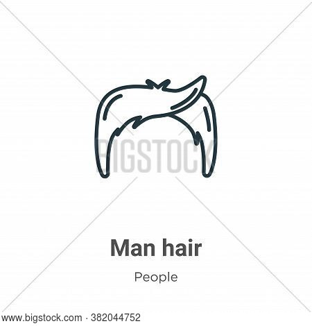 Man hair icon isolated on white background from people collection. Man hair icon trendy and modern M