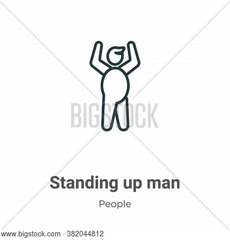 Standing up man icon isolated on white background from people collection. Standing up man icon trend
