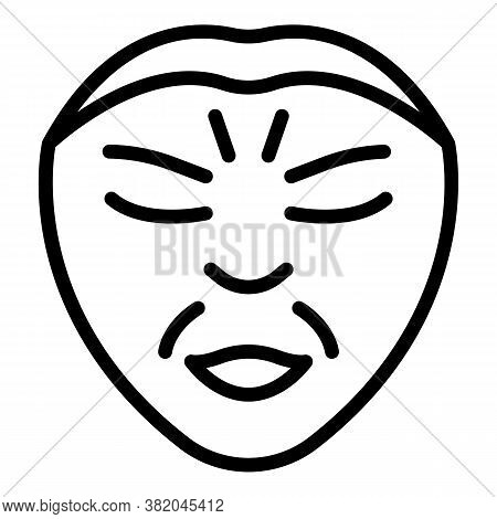 Wrinkles Makeup Icon. Outline Wrinkles Makeup Vector Icon For Web Design Isolated On White Backgroun