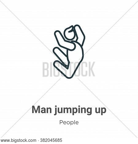 Man jumping up icon isolated on white background from people collection. Man jumping up icon trendy