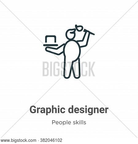 Graphic designer icon isolated on white background from people skills collection. Graphic designer i