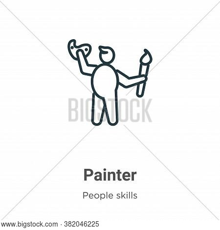 Painter icon isolated on white background from people skills collection. Painter icon trendy and mod