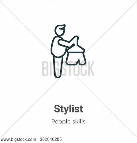 Stylist icon isolated on white background from people skills collection. Stylist icon trendy and mod