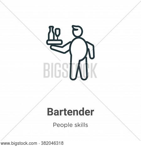 Bartender icon isolated on white background from people skills collection. Bartender icon trendy and