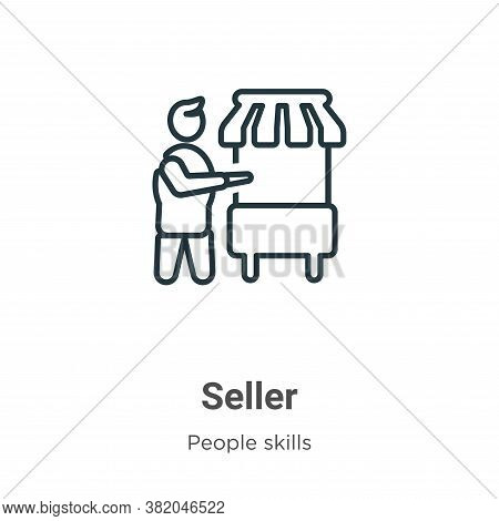 Seller icon isolated on white background from people skills collection. Seller icon trendy and moder