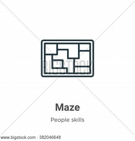 Maze icon isolated on white background from people skills collection. Maze icon trendy and modern Ma