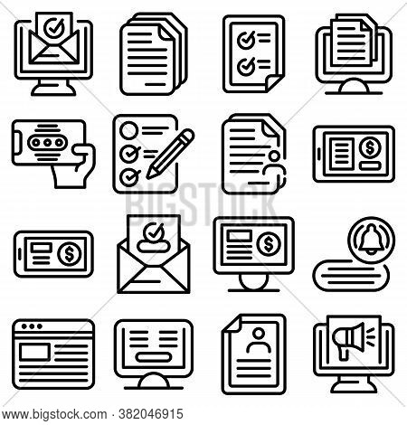 Subscription Icons Set. Outline Set Of Subscription Vector Icons For Web Design Isolated On White Ba