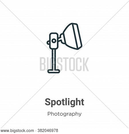 Spotlight icon isolated on white background from photography collection. Spotlight icon trendy and m