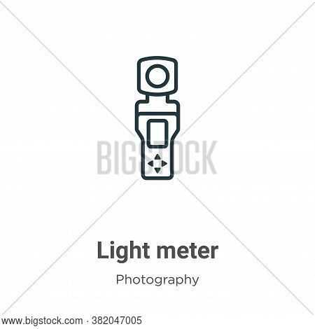 Light meter icon isolated on white background from photography collection. Light meter icon trendy a