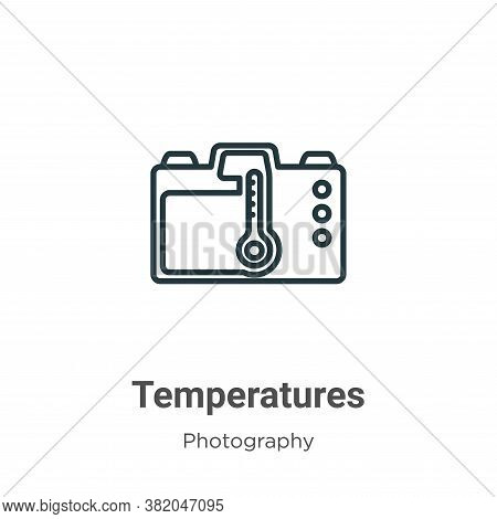 Temperatures icon isolated on white background from photography collection. Temperatures icon trendy