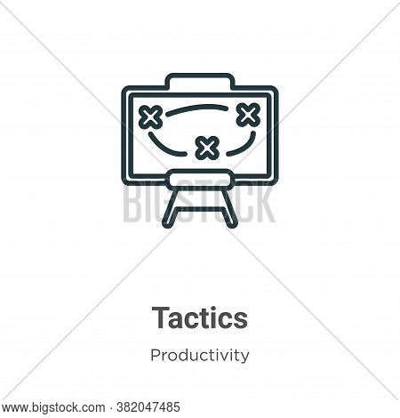 Tactics icon isolated on white background from productivity collection. Tactics icon trendy and mode