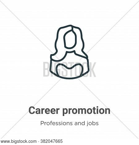 Career promotion icon isolated on white background from professions and jobs collection. Career prom