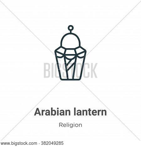 Arabian lantern icon isolated on white background from religion collection. Arabian lantern icon tre
