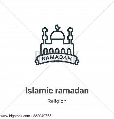 Islamic ramadan icon isolated on white background from religion collection. Islamic ramadan icon tre