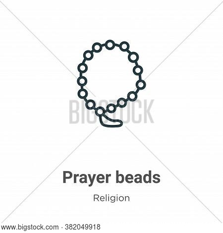 Prayer beads icon isolated on white background from religion collection. Prayer beads icon trendy an