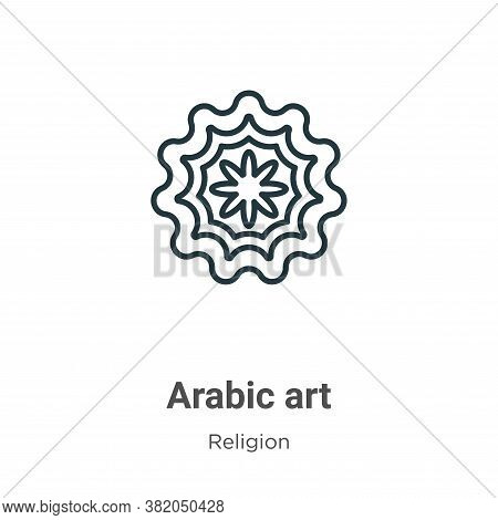 Arabic art icon isolated on white background from religion collection. Arabic art icon trendy and mo