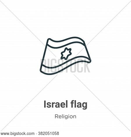 Israel flag icon isolated on white background from religion collection. Israel flag icon trendy and