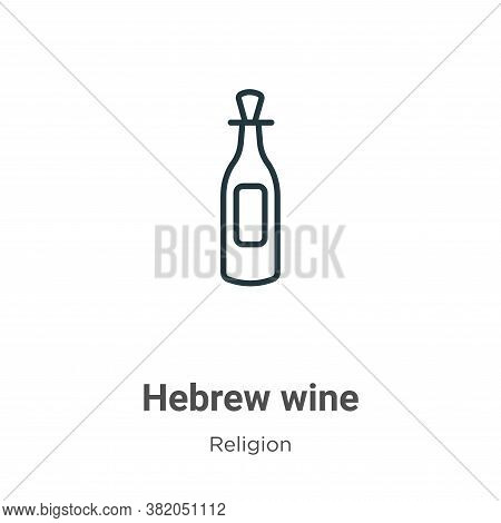 Hebrew wine icon isolated on white background from religion collection. Hebrew wine icon trendy and