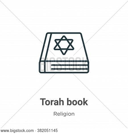 Torah book icon isolated on white background from religion collection. Torah book icon trendy and mo