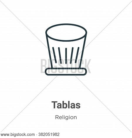 Tablas Icon From Religion Collection Isolated On White Background.