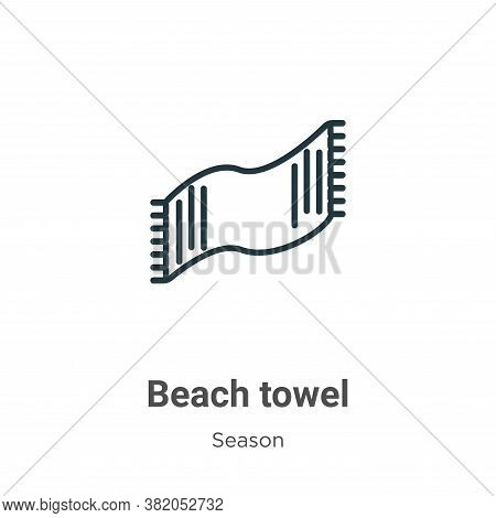 Beach towel icon isolated on white background from season collection. Beach towel icon trendy and mo