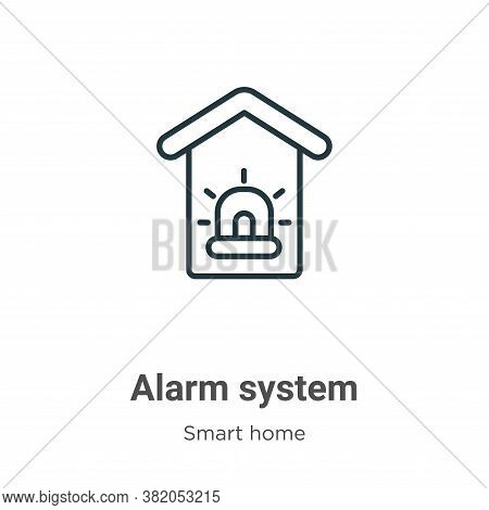 Alarm system icon isolated on white background from smart home collection. Alarm system icon trendy