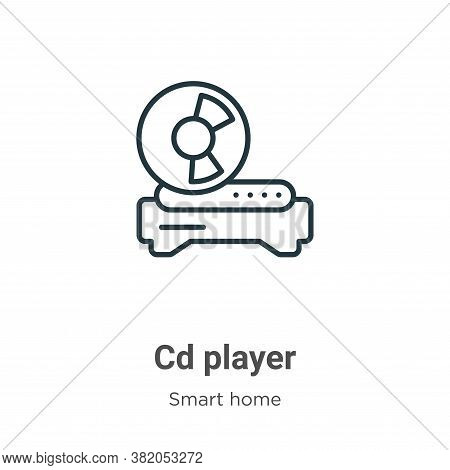 Cd player icon isolated on white background from smart home collection. Cd player icon trendy and mo