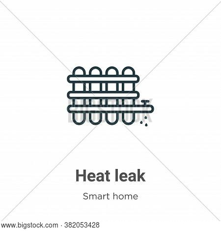 Heat leak icon isolated on white background from smart home collection. Heat leak icon trendy and mo
