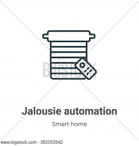 Jalousie automation icon isolated on white background from smart home collection. Jalousie automatio