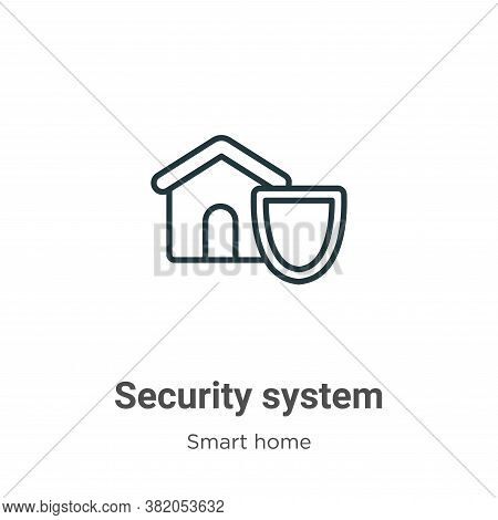 Security system icon isolated on white background from smart home collection. Security system icon t
