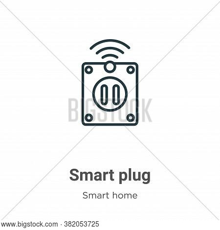 Smart plug icon isolated on white background from smart home collection. Smart plug icon trendy and